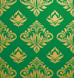 gold-green-pattern vector image