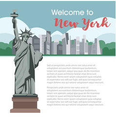 new york welcome poster for america travel tourism vector image vector image