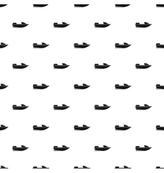 Sports powerboat pattern simple style vector