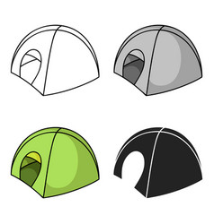 tent icon in cartoon style isolated on white vector image