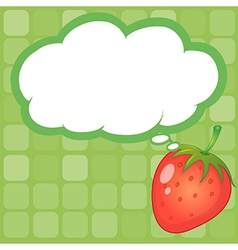 A strawberry with an empty callout vector