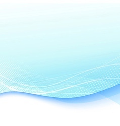 Abstract blue swoosh wave template vector