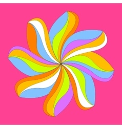 Abstract colorful flower design vector