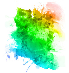 abstract watercolor paint art background vector image