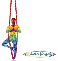 Aero Yoga Image of triangles vector