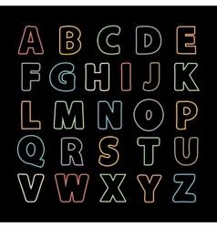 Alphabet line vector