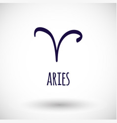 aries zodiac sign icon vector image