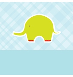 Baby boy shower card with cute elephant vector