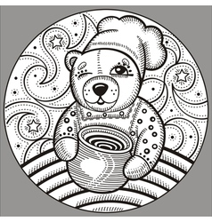 bear 4 vector image