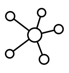 blockchain network line icon minimal pictogram vector image