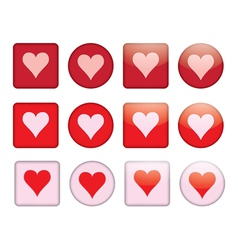 buttons with valentine vector image