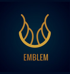 calligraphic luxury symbol emblem ornate decor vector image