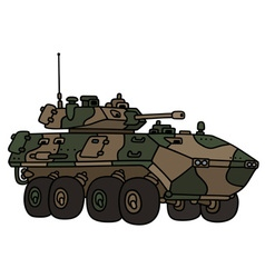 Camouflage armoured vehicle vector image