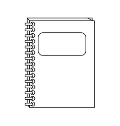 Closed notebook icon image vector