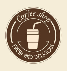 Coffee shop sign vector