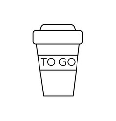 coffee to go cup line icon sign vector image