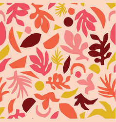 Collage contemporary floral pattern vector