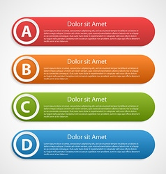 Colorful abstract infographic design template vector image