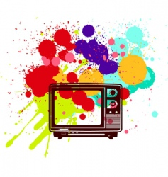 colorful television vector image