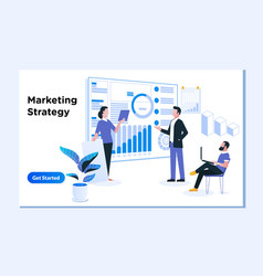 content marketing strategy digital marketing and vector image