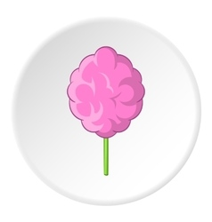 Cotton candy icon cartoon style vector image