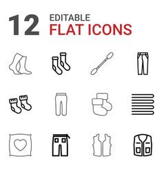Cotton icons vector