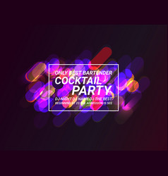 creative abstract or party flyer vector image