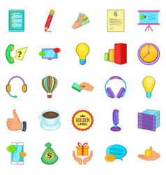 Customer icons set cartoon style vector