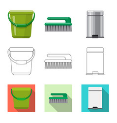 design of cleaning and service icon set of vector image