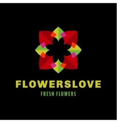 flower love quality flat trend brand icon vector image