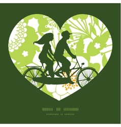 green and golden garden silhouettes couple on vector image