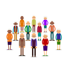 Group older people vector