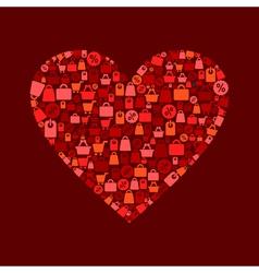 Heart sale vector image