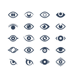 Human eye supervision and view symbols looking vector