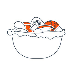 Icon salad in plate vector