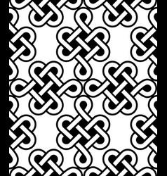 irish celtic seamless pattern set knots vector image