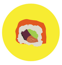isolated sushi roll vector image