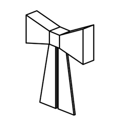 Isometric bowtie ribbon design vector