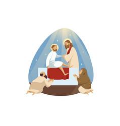 Lazarus resurrection bible religion vector