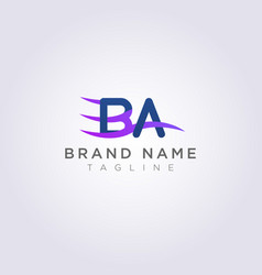 Logo icon design ba letters with waves for your vector