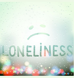 loneliness and depression vector image