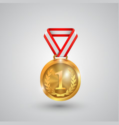 Medal holder on a white background vector