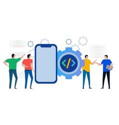 mobile smartphone application apps programming vector image