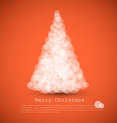 modern card with abstract christmas tree vector image