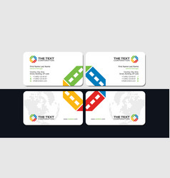 Movie business card vector