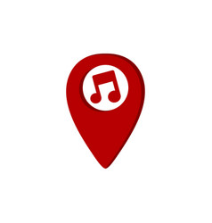 Music gps location icon key note theme logo vector