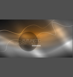 neon lines wave background abstract composition vector image