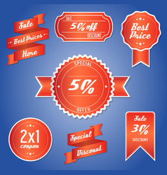 offer sale price tagpromotion vector image