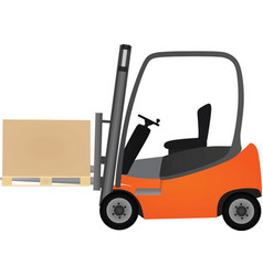 orange forklift vector image