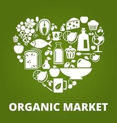 OrganicMarket vector image